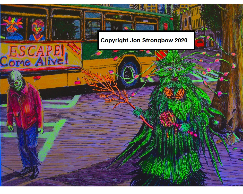 "Image for The Green Man Comes to Town (8""x10"" Color Print)"